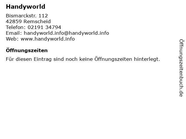 Handyworld in Remscheid: Adresse und Öffnungszeiten