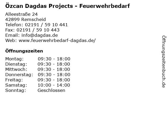 Özcan Dagdas Projects - Feuerwehrbedarf in Remscheid: Adresse und Öffnungszeiten