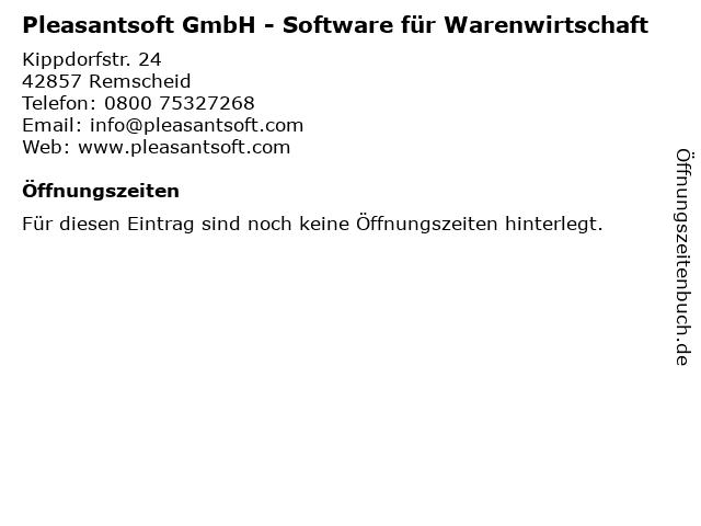 Pleasantsoft GmbH - Software für Warenwirtschaft in Remscheid: Adresse und Öffnungszeiten
