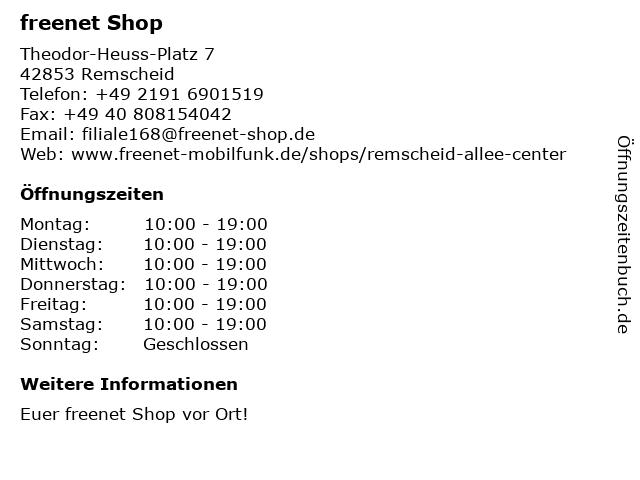 mobilcom-debitel in Remscheid: Adresse und Öffnungszeiten