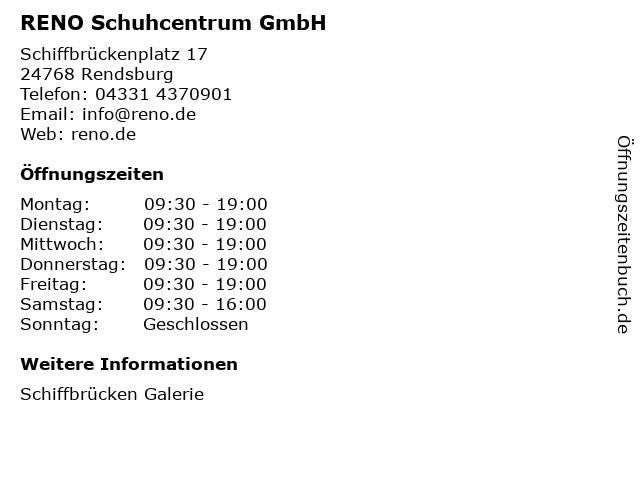 RENO Schuhcentrum GmbH in Rendsburg: Adresse und Öffnungszeiten