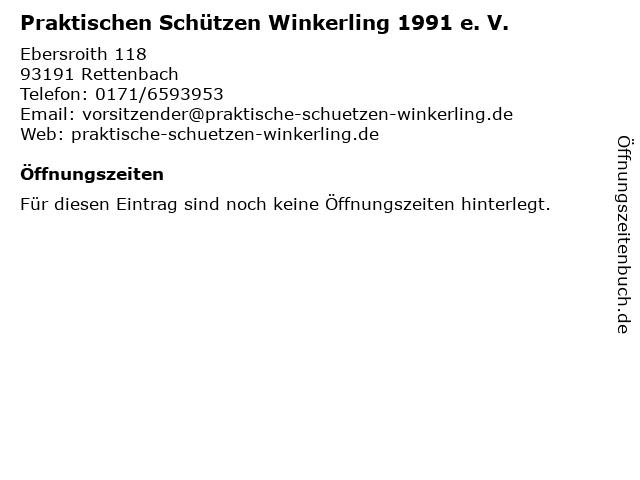 Praktischen Schützen Winkerling 1991 e. V. in Rettenbach: Adresse und Öffnungszeiten