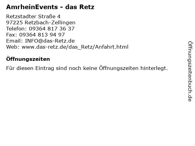 AmrheinEvents - das Retz in Retzbach-Zellingen: Adresse und Öffnungszeiten