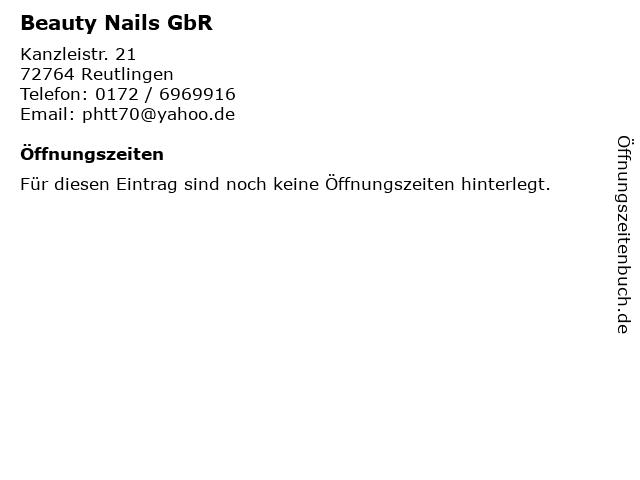 Beauty Nails GbR in Reutlingen: Adresse und Öffnungszeiten