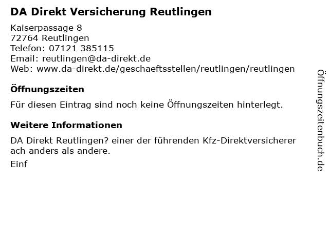 ᐅ Offnungszeiten Da Direkt Kaiserpassage 8 In Reutlingen