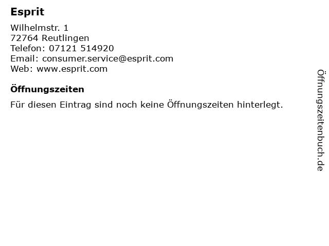 Esprit in Reutlingen: Adresse und Öffnungszeiten