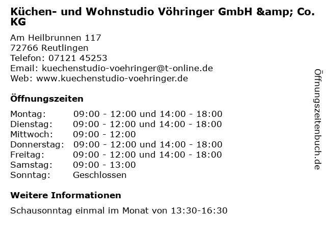 ᐅ öffnungszeiten Küchen Und Wohnstudio Vöhringer Gmbh Co Kg