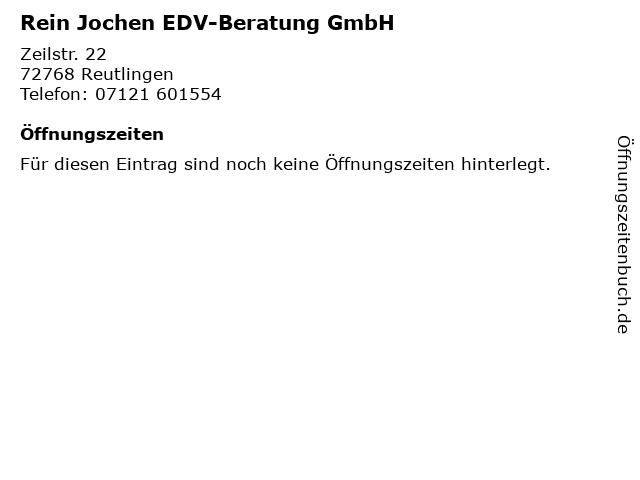 Rein Jochen EDV-Beratung GmbH in Reutlingen: Adresse und Öffnungszeiten