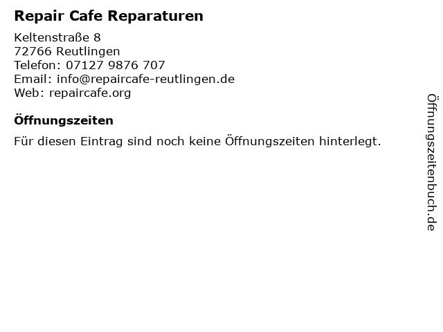 Repair Cafe Reparaturen in Reutlingen: Adresse und Öffnungszeiten