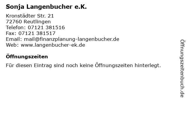 Sonja Langenbucher e.K. in Reutlingen: Adresse und Öffnungszeiten