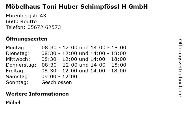 ᐅ öffnungszeiten Möbelhaus Toni Huber Schimpfössl H Gmbh