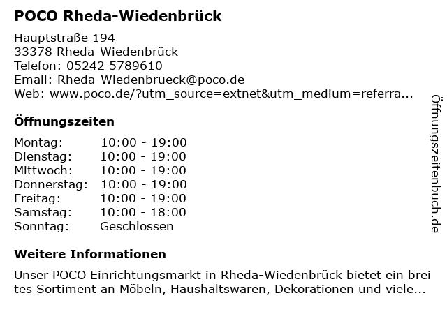ᐅ öffnungszeiten Poco Domäne Einrichtungsmärkte Hauptstraße 194