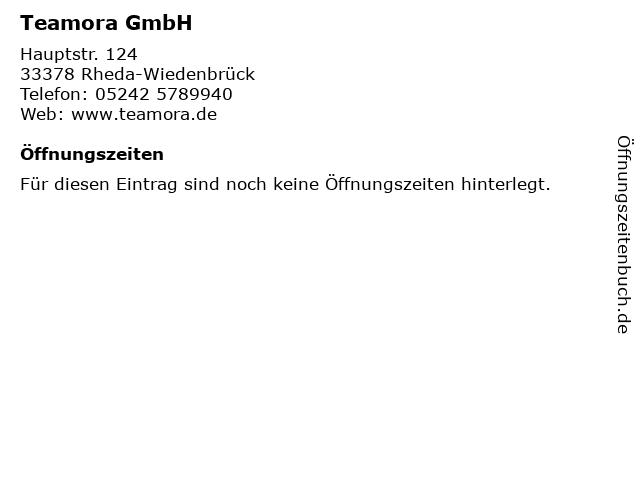 Teamora GmbH in Rheda-Wiedenbrück: Adresse und Öffnungszeiten