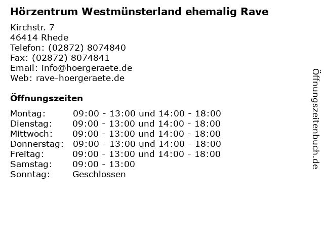 Hörzentrum Westmünsterland ehemalig Rave in Rhede: Adresse und Öffnungszeiten