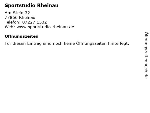 Sportstudio Rheinau in Rheinau: Adresse und Öffnungszeiten