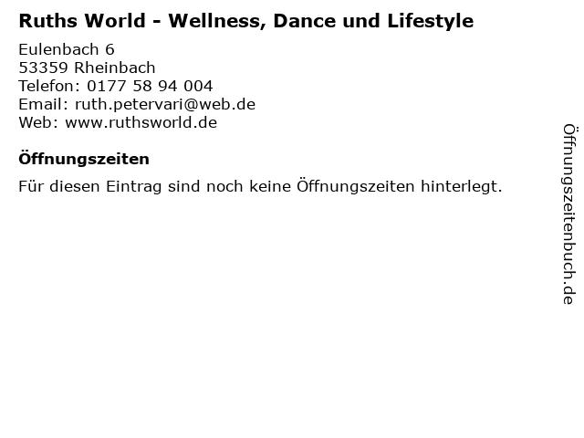 Ruths World - Wellness, Dance und Lifestyle in Rheinbach: Adresse und Öffnungszeiten