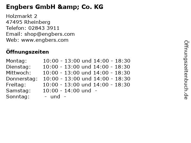 Engbers GmbH & Co. KG in Rheinberg: Adresse und Öffnungszeiten