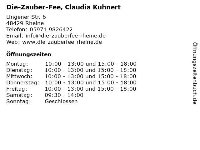 Die-Zauber-Fee, Claudia Kuhnert in Rheine: Adresse und Öffnungszeiten