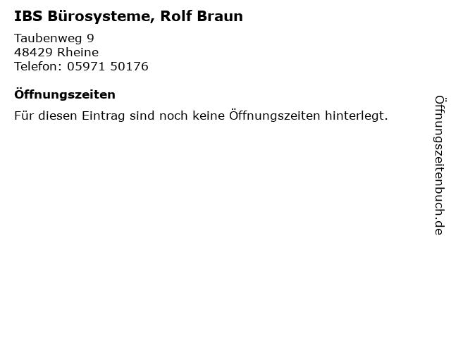ᐅ öffnungszeiten Ibs Bürosysteme Rolf Braun Taubenweg 9 In Rheine
