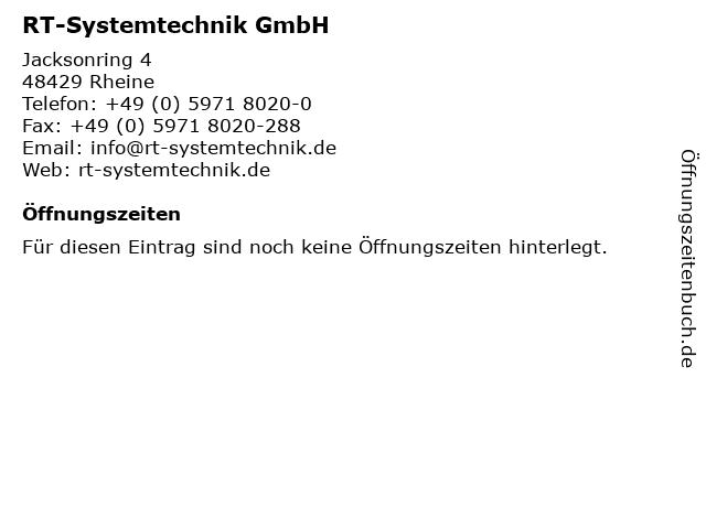 RT-Systemtechnik GmbH in Rheine: Adresse und Öffnungszeiten