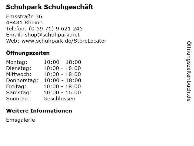 Schuhpark Fascies GmbH in Rheine: Adresse und Öffnungszeiten
