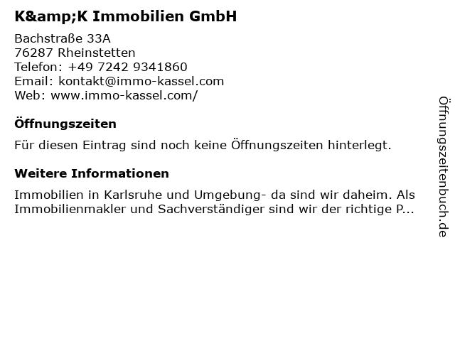 Immo Kassel in Rheinstetten: Adresse und Öffnungszeiten