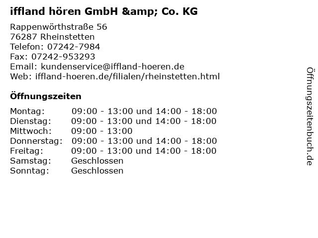 iffland hören GmbH & Co. KG in Rheinstetten: Adresse und Öffnungszeiten