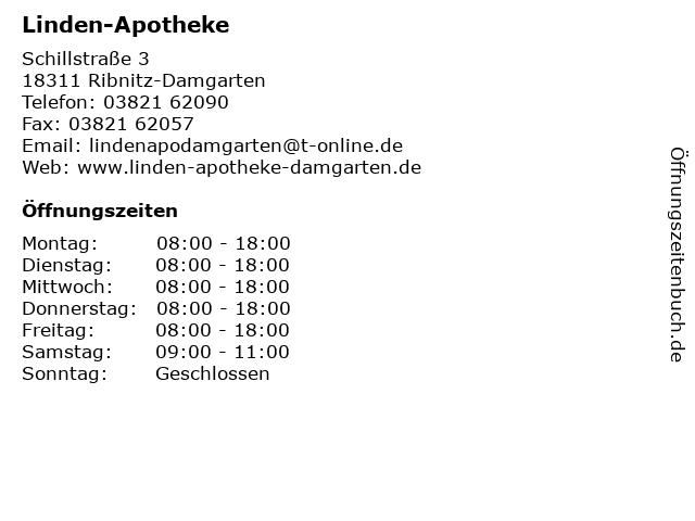 Linden-Apotheke in Ribnitz-Damgarten: Adresse und Öffnungszeiten