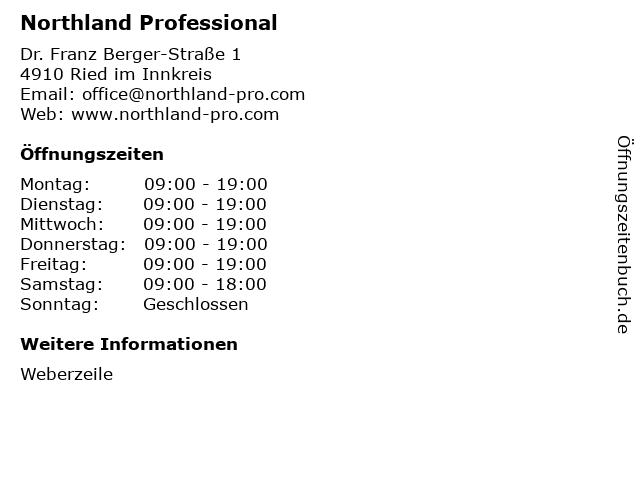 Northland Professional in Ried im Innkreis: Adresse und Öffnungszeiten