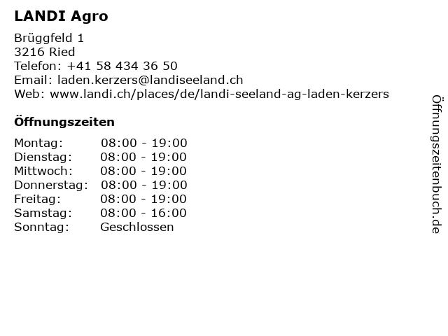 LANDI Agro in Ried: Adresse und Öffnungszeiten