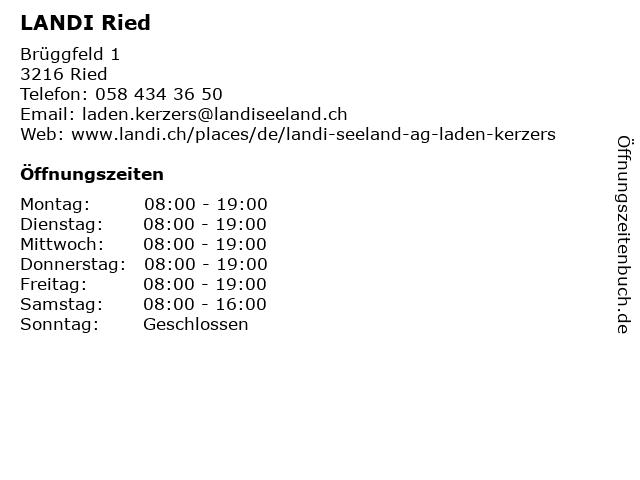 LANDI Ried in Ried: Adresse und Öffnungszeiten