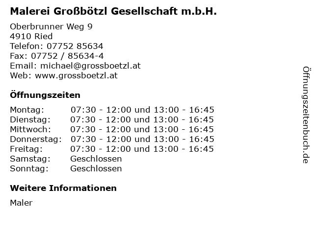 Malerei Großbötzl Gesellschaft m.b.H. in Ried: Adresse und Öffnungszeiten