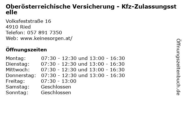 ᐅ Offnungszeiten Oberosterreichische Versicherung Kfz