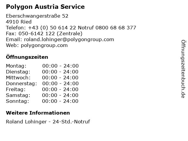 Polygon Austria Service in Ried: Adresse und Öffnungszeiten