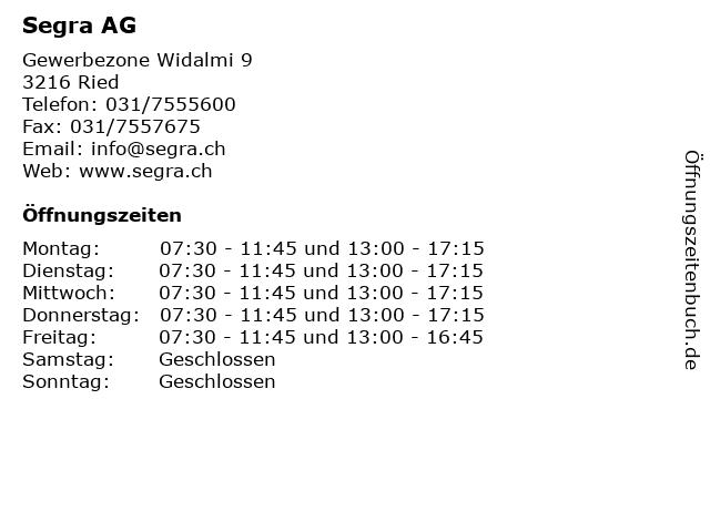 Segra AG in Ried: Adresse und Öffnungszeiten