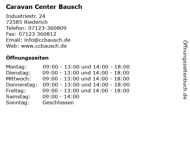 Caravan Center Bausch in Riederich: Adresse und Öffnungszeiten