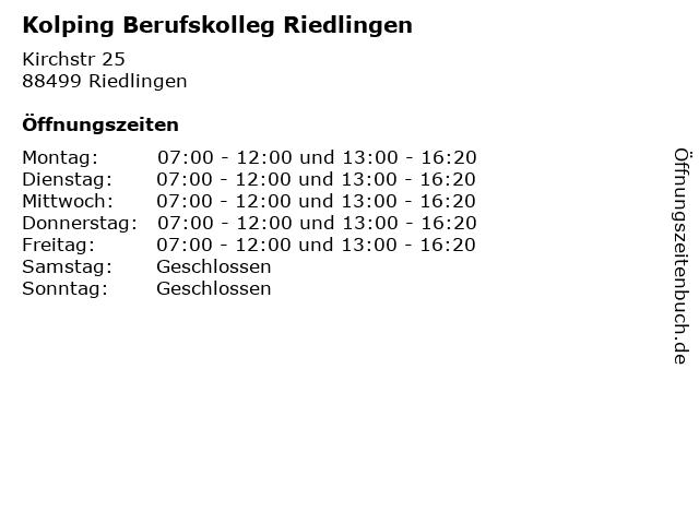 Kolping Berufskolleg Riedlingen in Riedlingen: Adresse und Öffnungszeiten