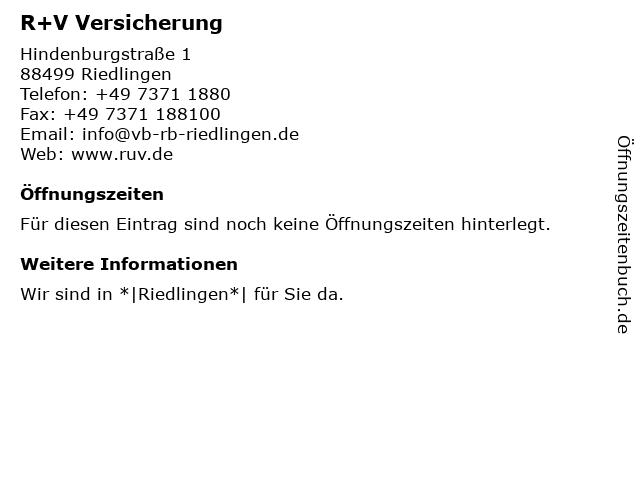 Volksbank-Raiffeisenbank Riedlingen eG (Geldautomat) in Riedlingen: Adresse und Öffnungszeiten
