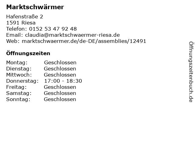 Marktschwärmer in Riesa: Adresse und Öffnungszeiten