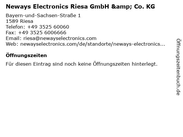 Neways Electronics Riesa GmbH & Co. KG in Riesa: Adresse und Öffnungszeiten