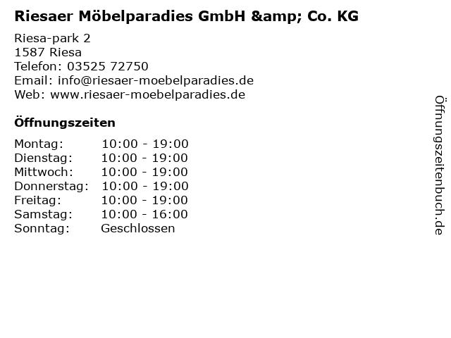 Riesaer Möbelparadies in Riesa: Adresse und Öffnungszeiten