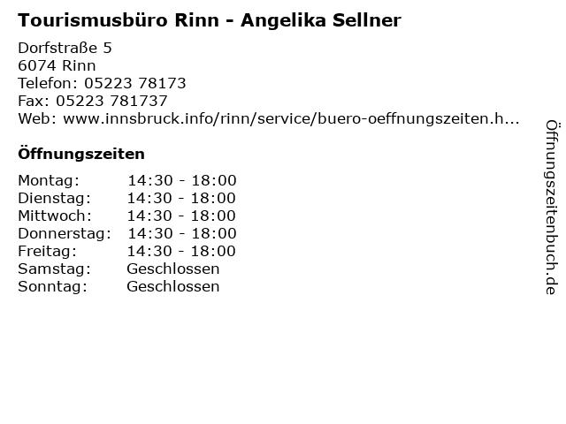 Tourismusbüro Rinn - Angelika Sellner in Rinn: Adresse und Öffnungszeiten