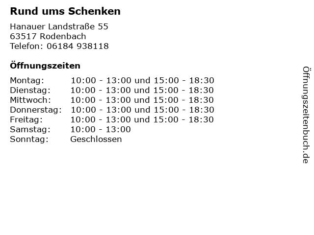 Rund ums Schenken in Rodenbach: Adresse und Öffnungszeiten