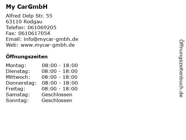 My CarGmbH in Rodgau: Adresse und Öffnungszeiten