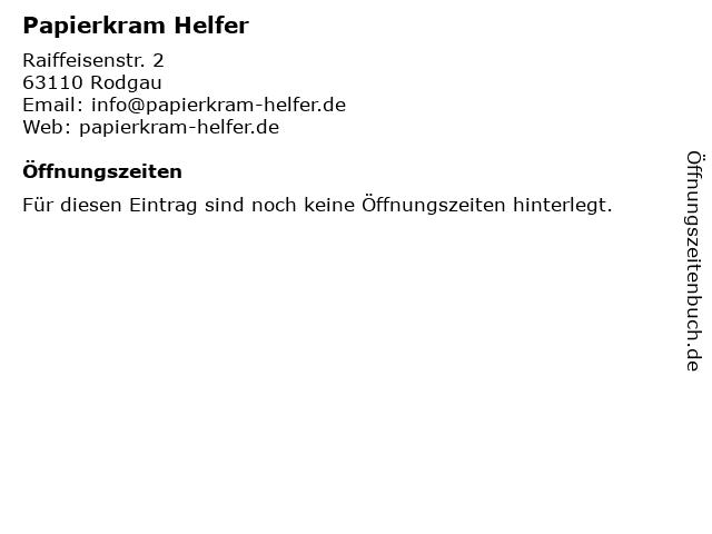 Papierkram Helfer in Rodgau: Adresse und Öffnungszeiten