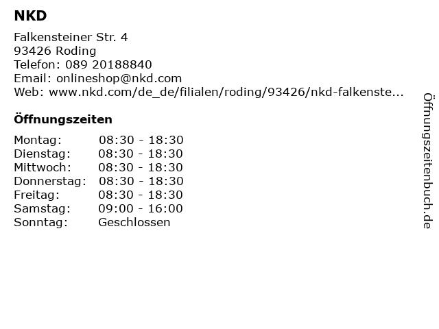 NKD - Roding in Roding: Adresse und Öffnungszeiten