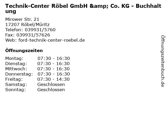 Technik-Center Röbel GmbH & Co. KG - Buchhaltung in Röbel/Müritz: Adresse und Öffnungszeiten