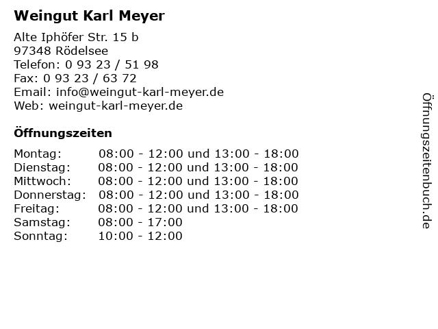 Weingut Karl Meyer in Rödelsee: Adresse und Öffnungszeiten