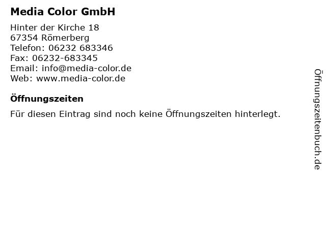 Media Color GmbH in Römerberg: Adresse und Öffnungszeiten