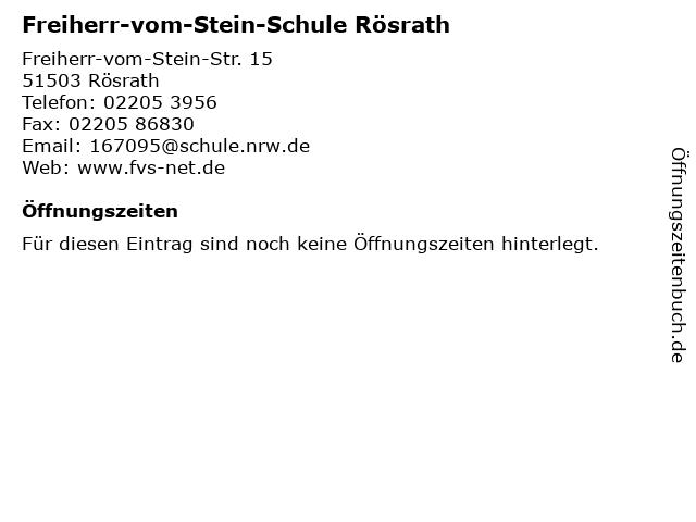 Freiherr-vom-Stein-Schule Rösrath in Rösrath: Adresse und Öffnungszeiten